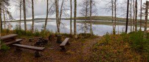 Nuotiopaikka, järvi, maisema